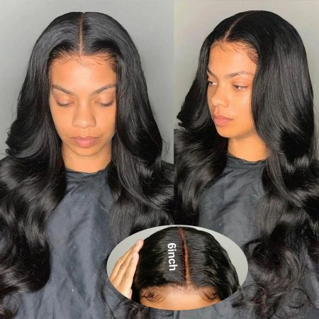 Deep Part Lace Front Wigs With Baby Hair