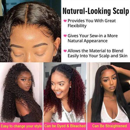 Deep Wave Wigs Black Hair Glueless Wigs