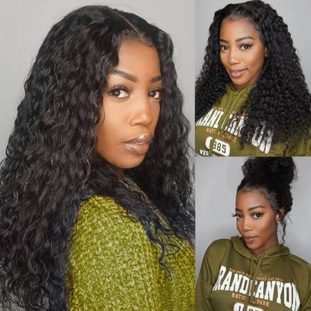 360 Lace Frontal Wigs Pre Plucked Deep Wave Wigs