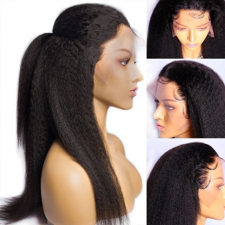 360 Lace Frontal Wig Natural Color Pre-Plucked