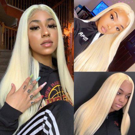 613 Blonde 4x4 Closure Straight Hair Wigs