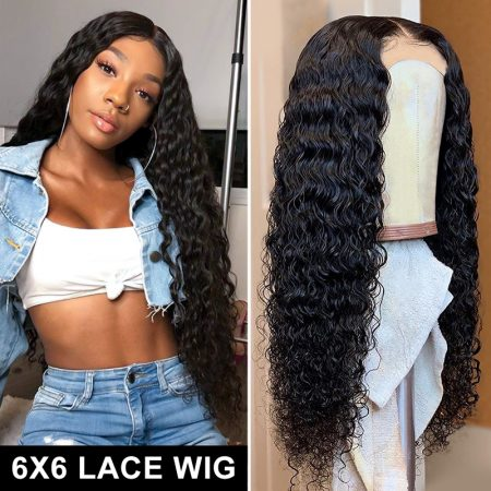 Deep Wave Affordable Lace Closure Wigs