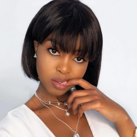 Bob Wigs Lace Front Short Wigs With Bangs