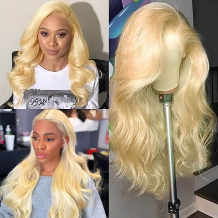 Body Wave Hairstyle Blonde 613 Color Human Hair Wig