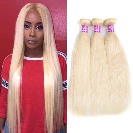 Mscoco Hair 613 Blonde Bundles Brazilian Straight Hair Weave Remy 613 Human Hair