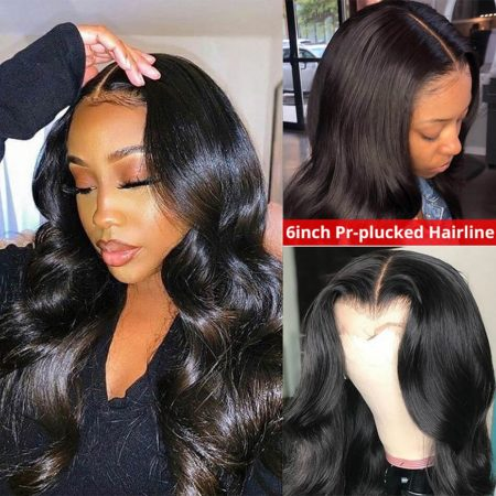 6*6 Lace Wigs Body Wave 100 Human Hair Wigs For Sale