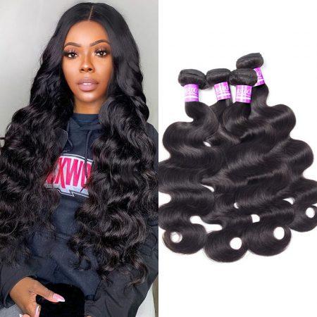 Indian Body Wave Weave Hair 4 Bundles Virgin Human Hair Weave