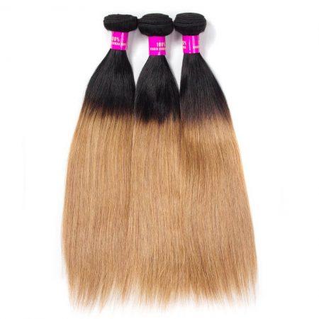 1B/27 Ombre Straight,Brazilian Straight Hair,Straight Brazilian Hair Weave,Brazilian Human Hair Bundle Deals
