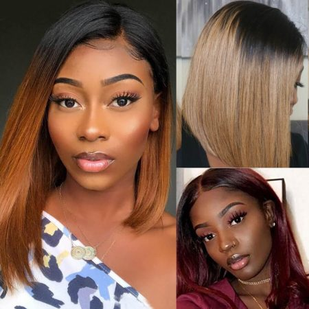 Mscoco Hair New Arrival Straight Human Hair 4x4 Lace Front Bob Wigs Are On Sale
