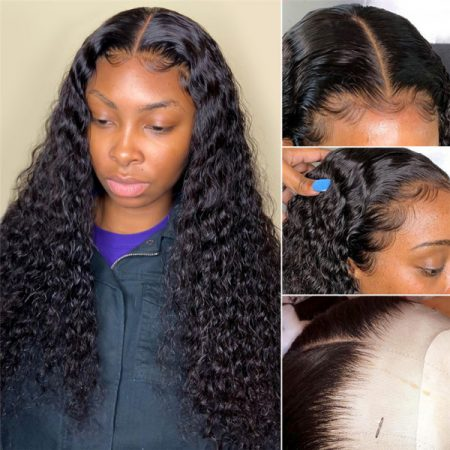 Deep Wave Closure Wig With Natual Hairline And Baby Hair