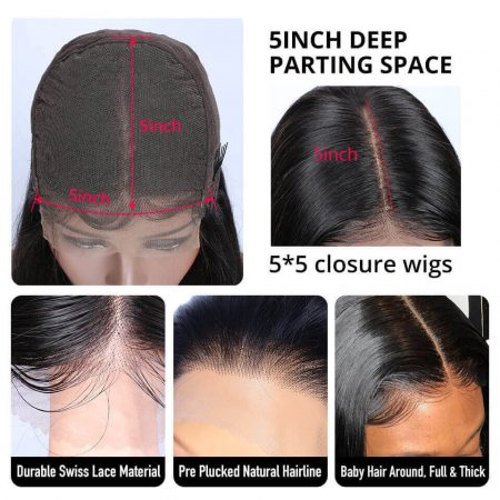Affordable Price Closure Wigs In Curly Hair