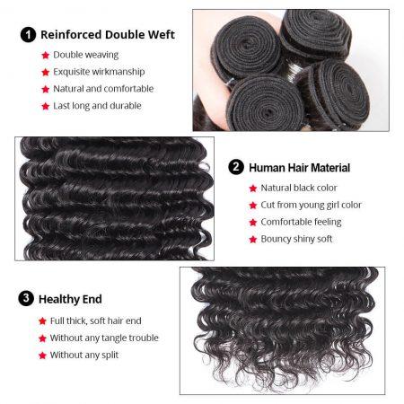 human hair deep curly hair