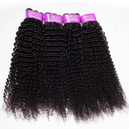 Indian Kinky Curly Hair 4 Bundles Extensions Best Virgin Human Hair Wholesale