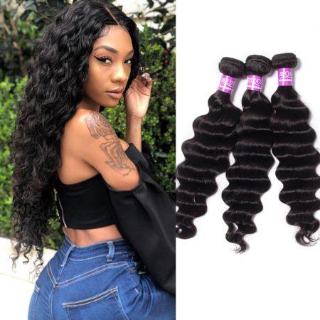 Loose Deep Wave 3 Bundles Virgin Human Hair