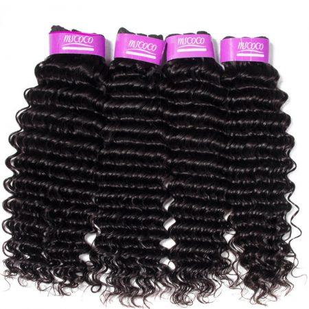 Indian Deep Wave Weave Hair 4 Bundles Best Virgin Human Hair Online