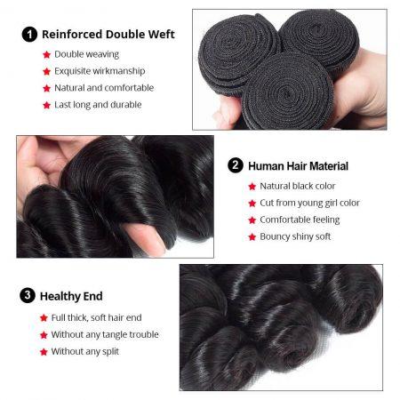 loose wave human hair weave