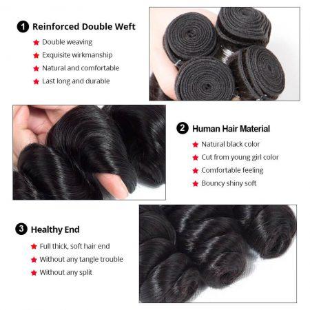 loose wave human hair bundles