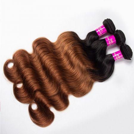 Brazilian T1B/30 Ombre Body Wave hair Bundles Virgin Human Hair Weave