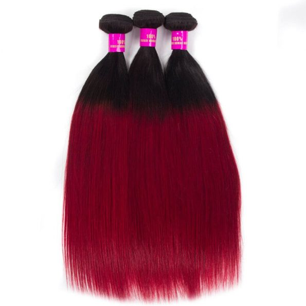 ombre_color_hair_1b_burgundy_straight_remy_human_hair