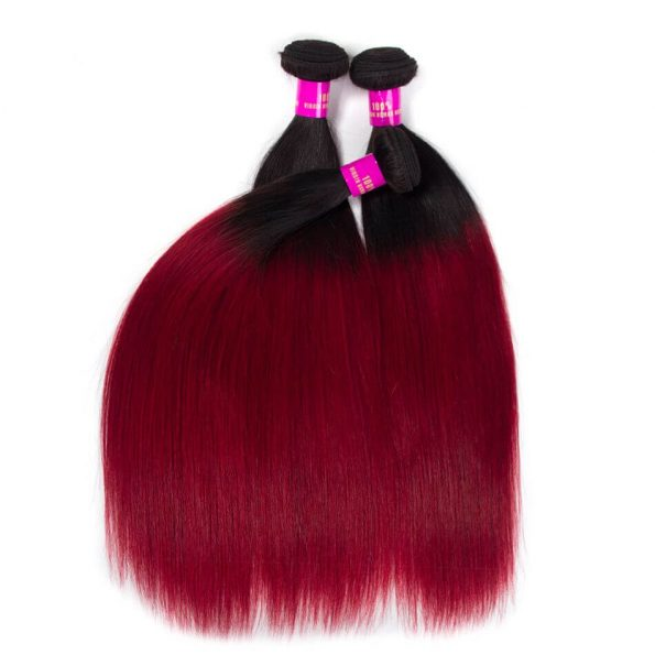 ombre_color_hair_1b_burgundy_straight_remy_human_hair_2