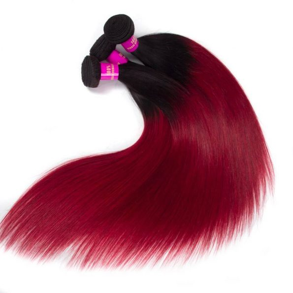ombre_color_hair_1b_burgundy_straight_remy_human_hair_3