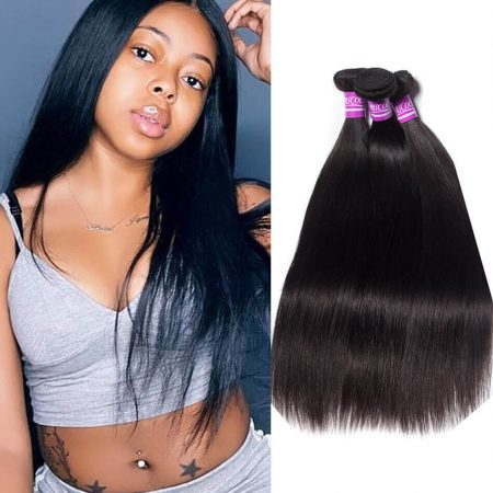 Indian Straight hair 3 Bundles Virgin Human Hair Weave