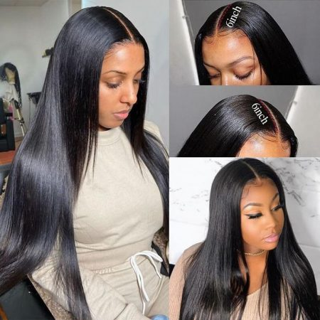 Straight Hairstyles 13*6 Lace Frontal Wig