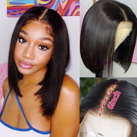Human Hair Short Bob Wigs Brazilian Virgin Straight Hair
