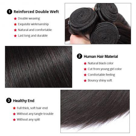 natural black human hair bundles