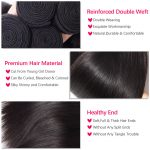 Brazilian Straight Hair Bundles With Lace Closure Virgin Hair Bundles With Closure