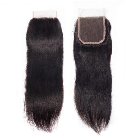 straight 5x5 lace closure natural black