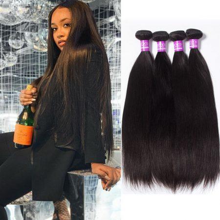 Brazilian Straight Human Hair Weave 4 Bundles Virgin Human Hair Weave