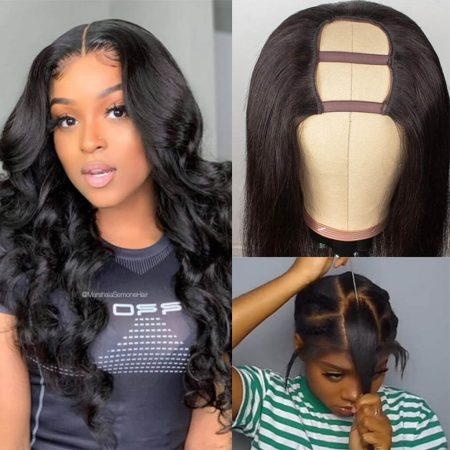 Affordable Human Hair U Part Wigs In Straight Or Body Wave