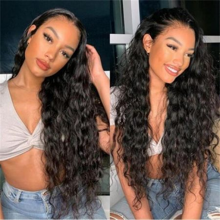 200% and 250% High Density Water Wave Lace Front Wig