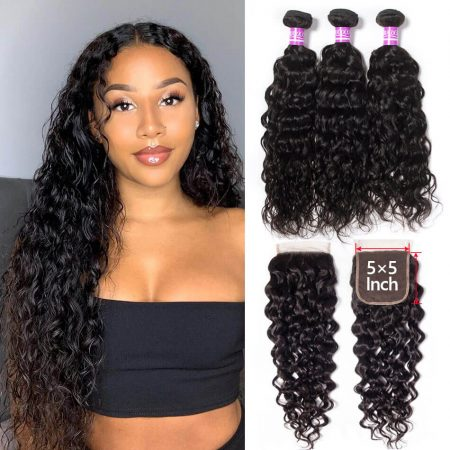 Mscoco Water Wave Bundles With 5×5 Closure Brazilian Hair Weave 3 Bundles With ClosureMscoco Water Wave Bundles With 5×5 Closure Brazilian Hair Weave 3 Bundles With Closure