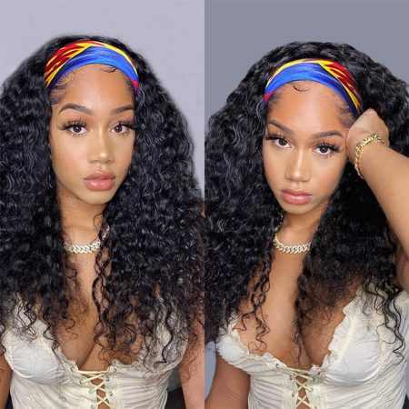 water wave headband wig with bands