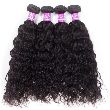 Brazilian Water Wave Hair Virgin Human Hair Weave 4 Bundles
