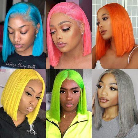 colored bob wigs